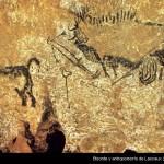 Bisonte y antropomorfo de Lascaux (Pierre Vidal)